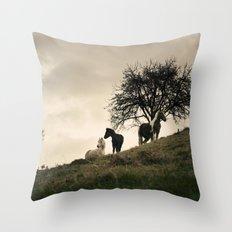 caballos Throw Pillow