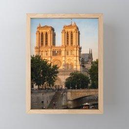 Notre Dame de Paris at Golden Hour - Paris, France Framed Mini Art Print
