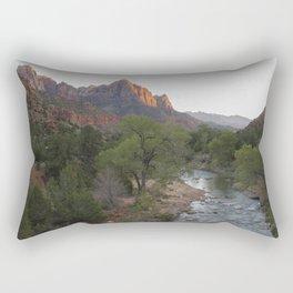Zion National Park, Watchman's Peak, Fine Art Photography Rectangular Pillow