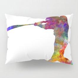 Baseball player hitting a ball Pillow Sham