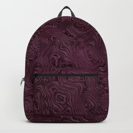 Royal Maroon Silk Moire Pattern Backpack