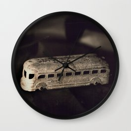 Tintype of Vintage Toy Bus Wall Clock