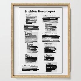 Hidden Horoscopes Serving Tray