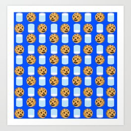Milk & Cookies pattern Art Print