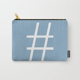 number sign on placid blue color background Carry-All Pouch
