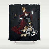 chess Shower Curtains featuring Chess by Guilherme Marconi