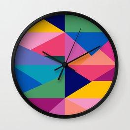 Geometric Color Block Wall Clock