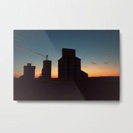 Silos at Sunrise Metal Print