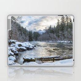 Morning on the McKenzie River Between Snowfalls Laptop & iPad Skin