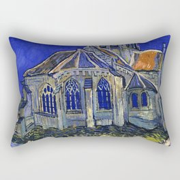 "Vincent Van Gogh ""The Church In Auvers Sur Oise"" Rectangular Pillow"