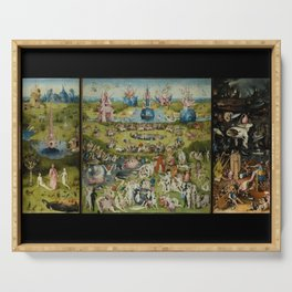 The Garden of Earthly Delights, Surreal, Hieronymus Bosch Serving Tray