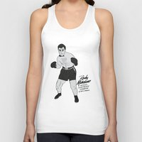 rocky Tank Tops featuring Rocky - Rocky Marciano by V.L4B