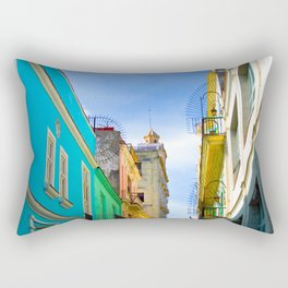 Streetview - Street and houses in Havana Rectangular Pillow