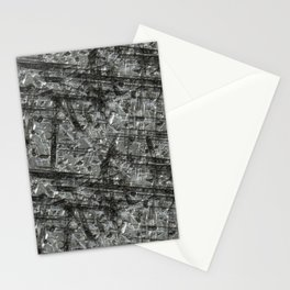 Gouged Stainless Texture Stationery Cards