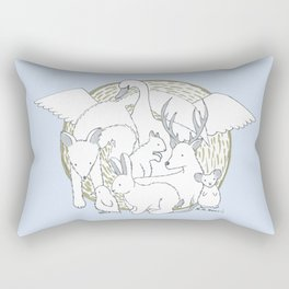 Enchanted Animals Rectangular Pillow