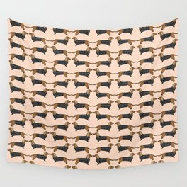 Happy Dachshund Dogs by Andrea Lauren  Wall Tapestry