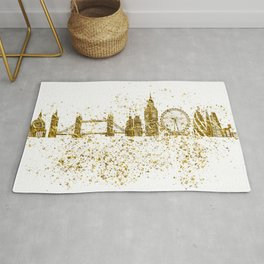 London skyline in gold Rug