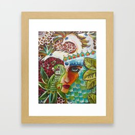 The Girl and The Bird 2 Framed Art Print
