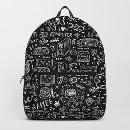 Video Games Pattern | Gaming Console Computer Play Backpack
