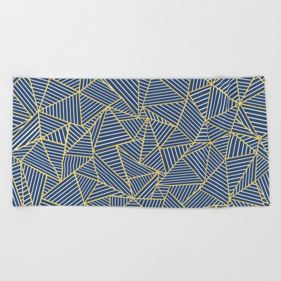Ab Out Double R Navy Beach Towel