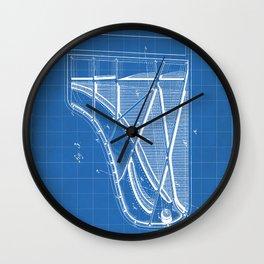 Steinway Piano Patent - Piano Player Art - Blueprint Wall Clock
