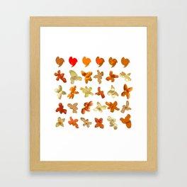 Orange Peel Party Framed Art Print