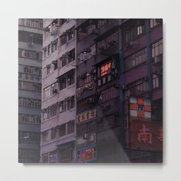 Hong Kong street ads Metal Print