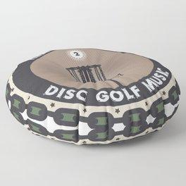 Disc Golf Chains Floor Pillow