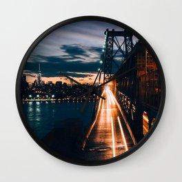 One second in life of Williamsburg Bridge Wall Clock