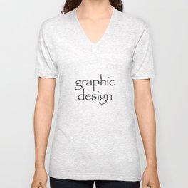 Graphic Design Unisex V-Neck