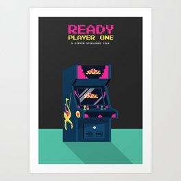 Ready Player One Minimalist Poster - 80s Arcade Art Print