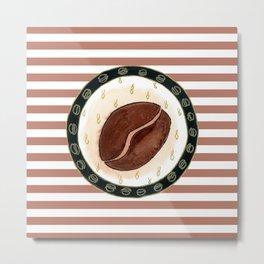 Coffee and stripes Metal Print