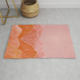 Lines in the mountains - pink II Rug