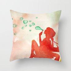 Desk Daydream Throw Pillow