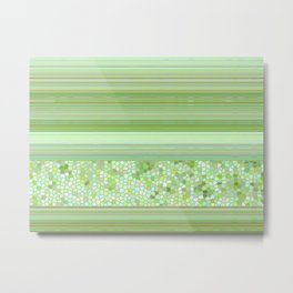 GRAPHIC POP - pastell green Metal Print