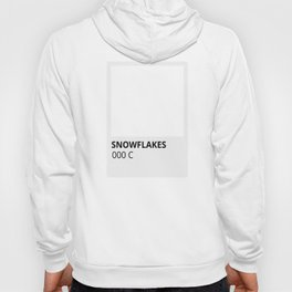 Holiday Color Snowflakes in White Hoody