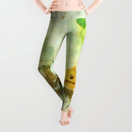 Drifting, Abstract Landscape Art Painting Leggings
