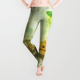 Drifting, Abstract Landscape Art Painting Leggings