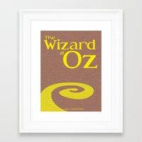 wiz khalifa Framed Art Prints featuring Wiz by Megan Oliveri Designs