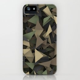 Triangle camouflage iPhone Case