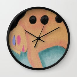 Hot Stone Massage Abstract Digital Painting  Wall Clock