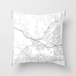 Minimal City Maps - Map Of Espoo, Finland. Throw Pillow