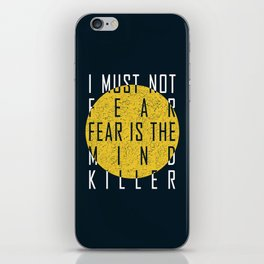 Dune - The Litany Against Fear (WHT) iPhone Skin