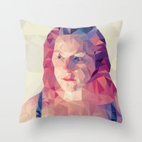wasted rita Throw Pillows featuring Rita by Luis Marques