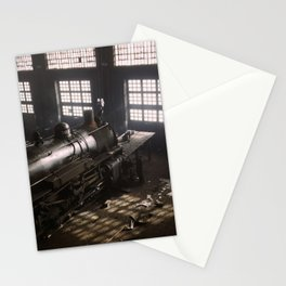 Locomotive Repair Shop - December 1942 Stationery Cards