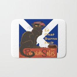 Le Chat Burns Nuit Haggis Dram Scottish Saltire Bath Mat