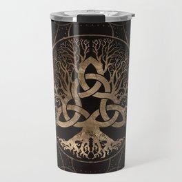 Tree of life -Yggdrasil with Triquetra Travel Mug
