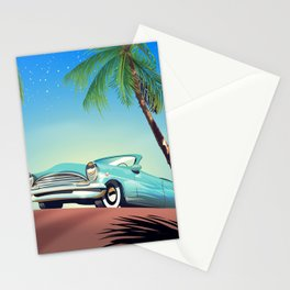 Classic Car vintage poster Stationery Cards