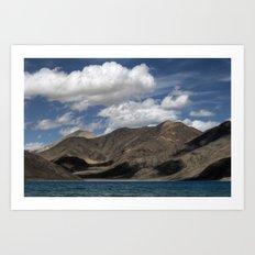 Journey to Pangong Lake Art Print