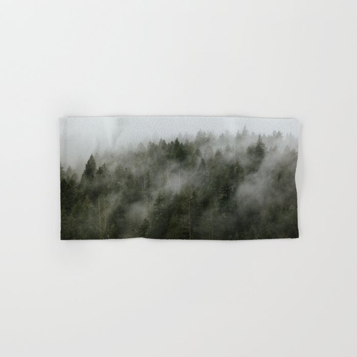 Pacific Northwest Foggy Forest Hand & Bath Towel